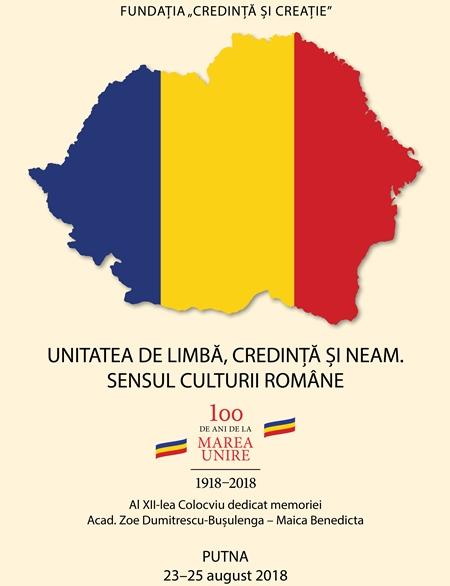 Unitatea de limbă, credință și neam. Sensul culturii române.
