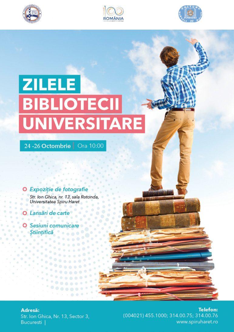 """Ziua Bibliotecilor Universităţii """"Spiru Haret"""" & lansare de carte"""